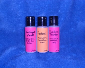 Set of 3 Moisturizing Hand & Body Lotion with Sunflower Oil and Allantoin  2 fl. ounce each -him/her  *6 fl. oz. total*