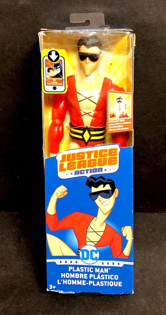 Brand New In Box Mattel DC Justice League Plastic Man 12 /'/' Action Figure