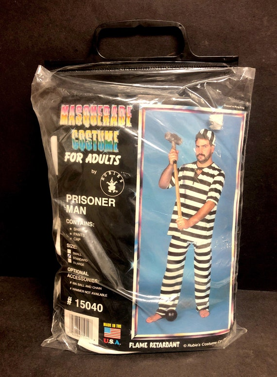 Adult Masquerade Prisoner Costume (Standard size)