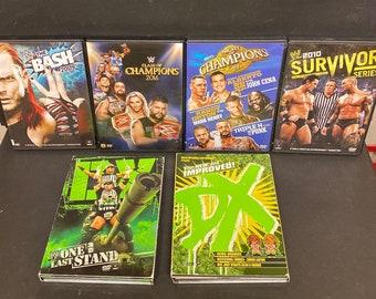 Collectible Lot (6) WWF/WWE Wrestling Dvd's Survivor,Bash,DX & More!