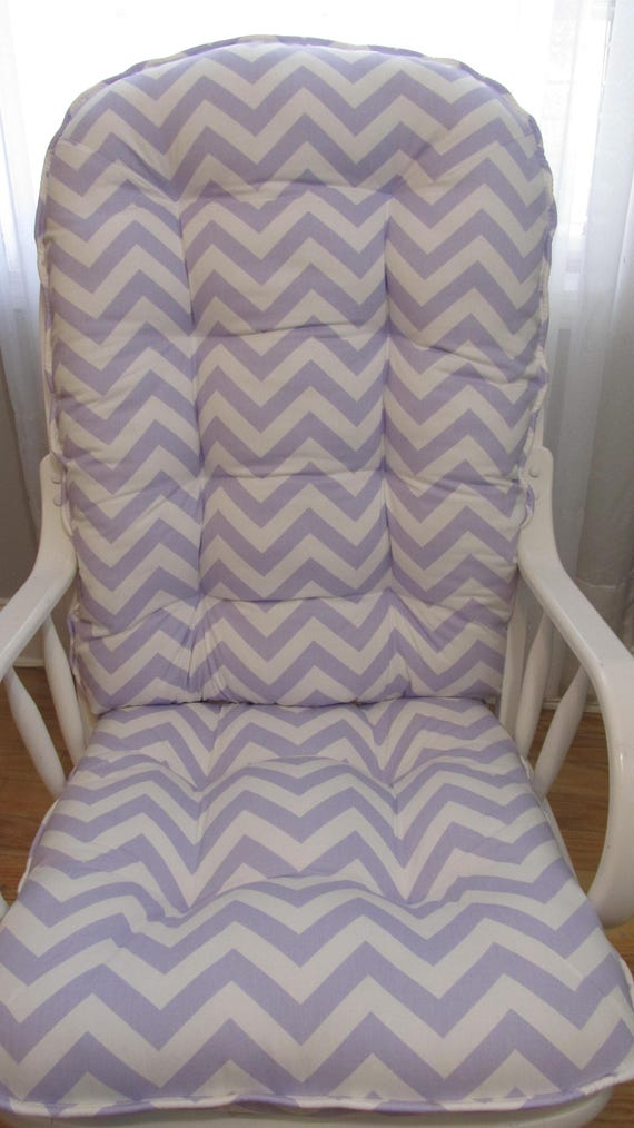Glider Or Rocking Chair Cushions Set In Purple Lavender