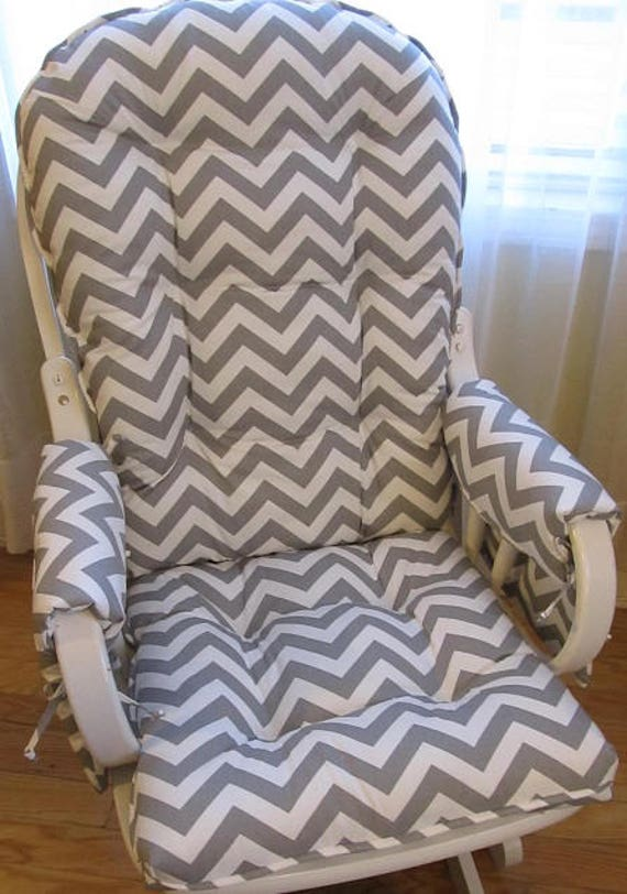 Peachy Glider Or Rocking Chair Cushions Set With Arm Rest Covers In Grey White Chevron Baby Nursery Rocker Dutailier Replacement Forskolin Free Trial Chair Design Images Forskolin Free Trialorg