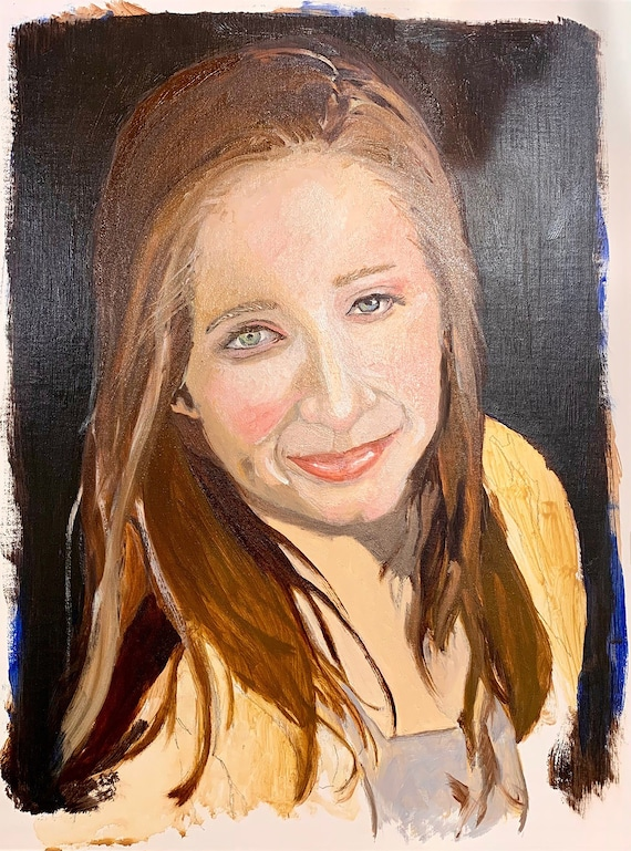 Portrait in ochre