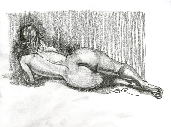 Reclining Female Study 001