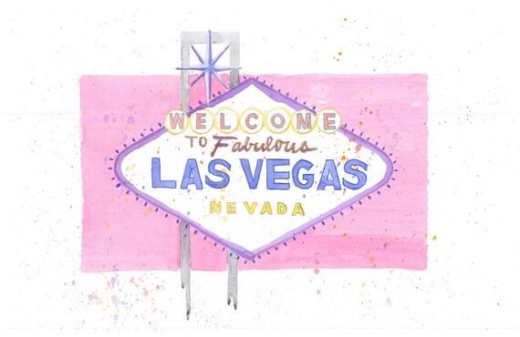 Las Vegas Sign - Pink