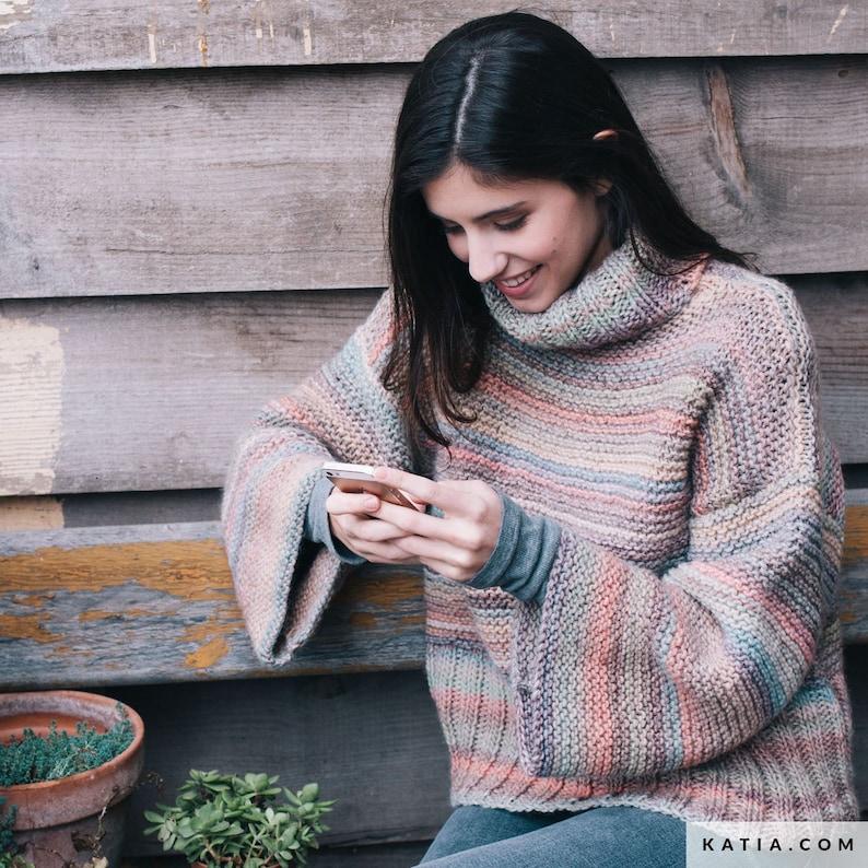 Katia Azteca Yarn 7860 cowl hat Self striping wool for knitting blanket Multicolor worsted gradient wool blend yarn for kids sweater