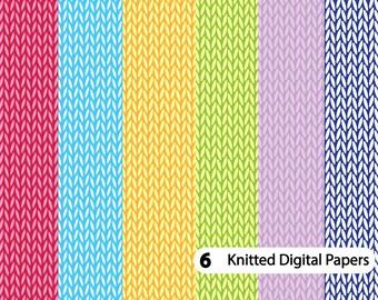 Digitales Papier Stricken Muster Stricken Häkeln Digitales Etsy