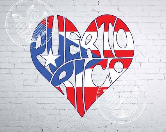 Digital Puerto Rico Word Art With Flag Jpg