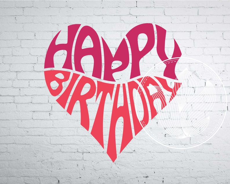 Happy Birthday Word Art Svg Dxf Eps Png Jpg