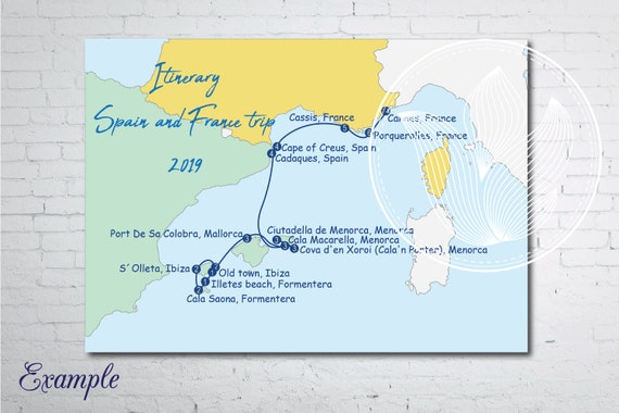 I will make a Custom digital travel map, Itinerary map for your travel Make An Itinerary Map on make an map, make a letter, make an invitation, make an application, make an invoice,