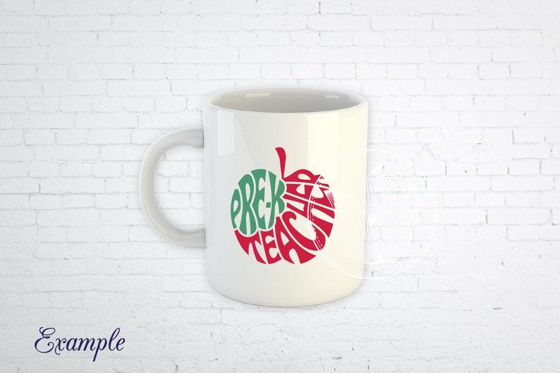 jpg Pre-K teacher Apple design Word Art png eps pdf pre k svg Gift for teacher T-shirt design prek dxf