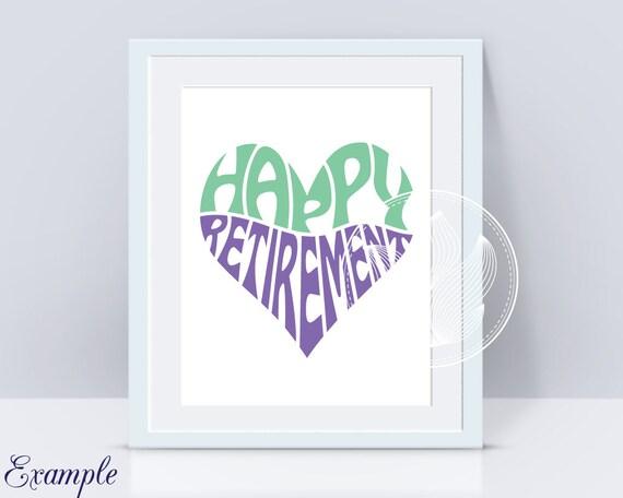 Bonne Retraite Word Art Heureux Retraite Svg Dxf Eps Png Jpg Logo Design Mot En Forme De Coeur Décoration Murale Design De T Shirt
