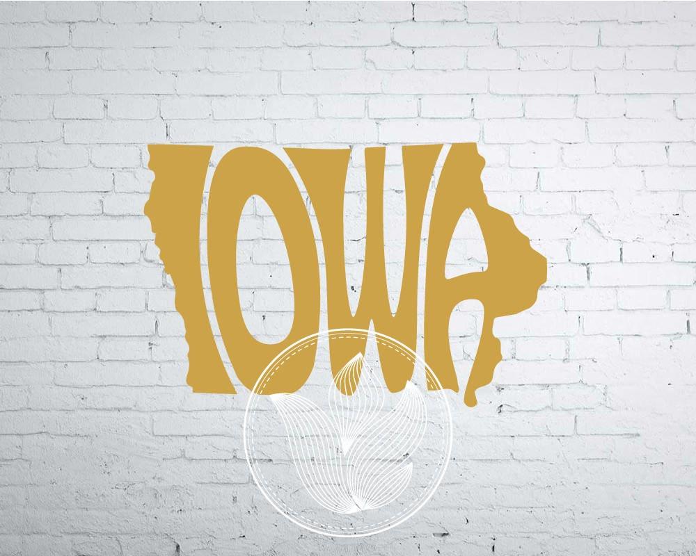 Digital Iowa Word Art Iowa jpg png eps svg dxf Iowa logo