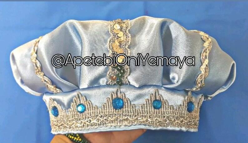 Gorro de Yemaya Hat Santeria Ifa Achaba Asesu Mayelewo