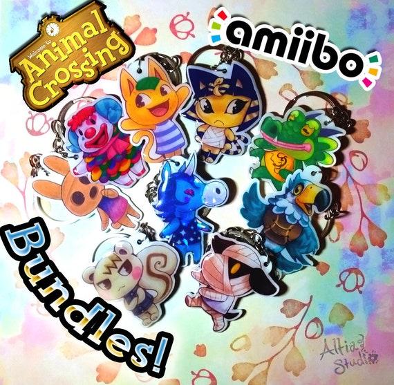 Individual Sanrio amiibo keychains