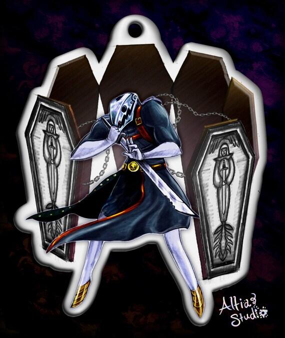 Persona 5 Persona 3 Thanatos Death Keychain