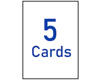 """any five 5x7"""" greeting cards"""