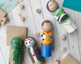 Toy Story Inspired Peg Dolls