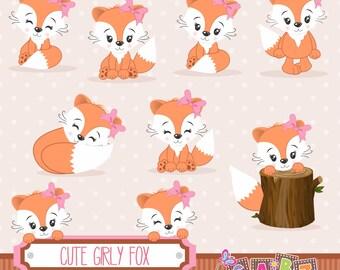 Girl Fox Baby Shower Etsy