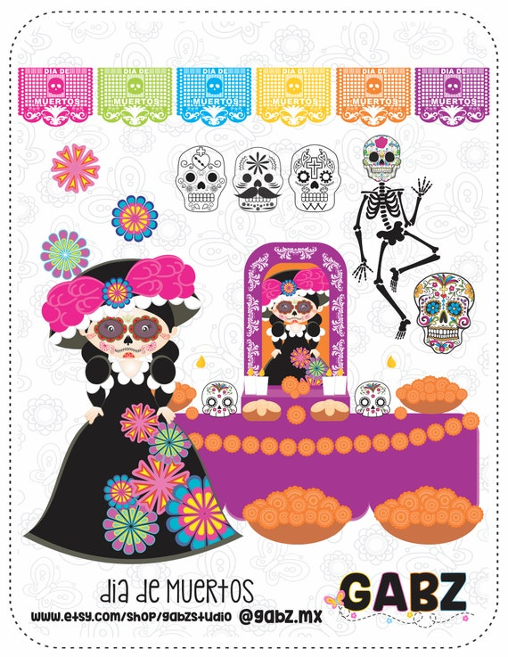 Dia De Muertos Day Of The Dead Traditional Mexican Clipart