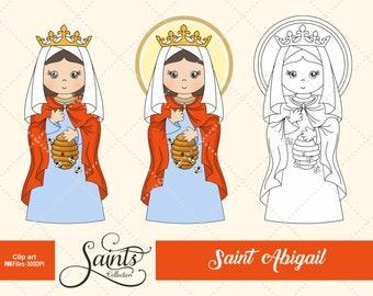 Saint Abigail, Communion, Saint Clipart, Holy Woman, Catholic Saint, Santos, Saints Collection, Gabz