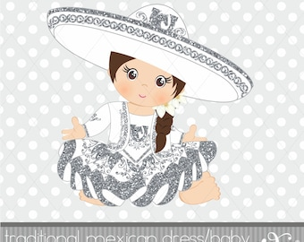 Baby Charra, Traditional Mexican Dress, Baby Girl, Charro, Gabz