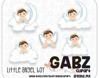 Little Angel Boy, Clipart, Baptism, Christening, Baby Boy, Angels, Angel Boy, Gabz