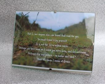 Riverside Walk Photo with Quote (framed) A5 - The Journey
