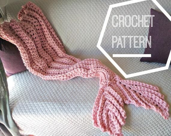 Crochet Mermaid Tail Blanket Pattern Adult Mermaid Blanket Etsy