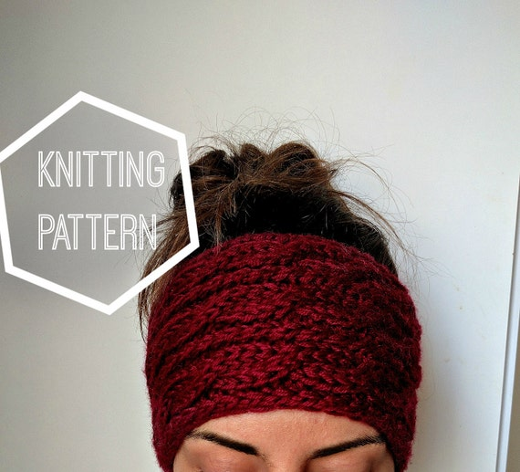 Chunky Cable Knit Ear Warmer Pattern Knitting Patterns For Etsy