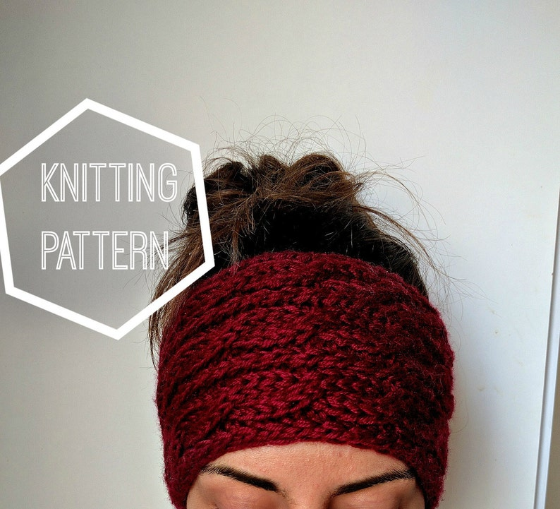 4a363381926c Chunky Cable Knit Ear Warmer Pattern Knitting Patterns for