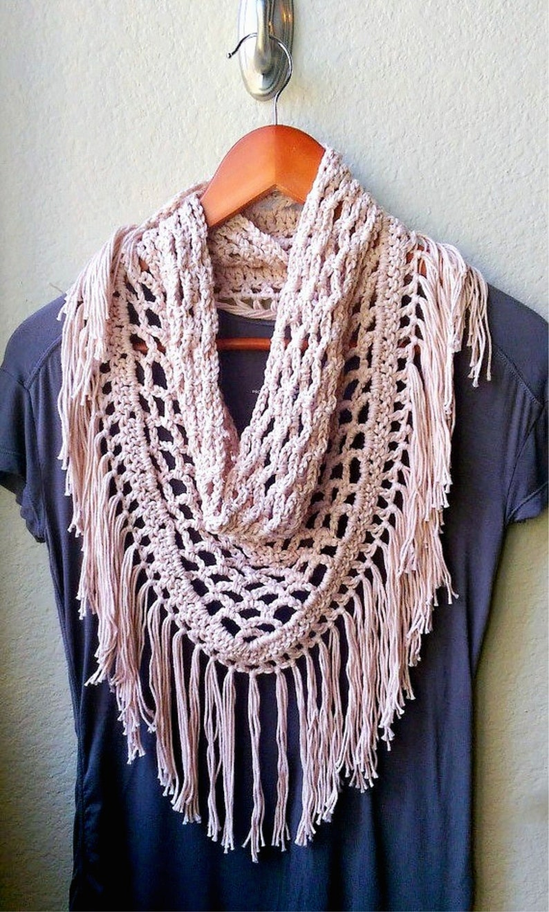 Crochet Scarf Pattern ONLY Crochet Triangle Scarf Pattern image 1