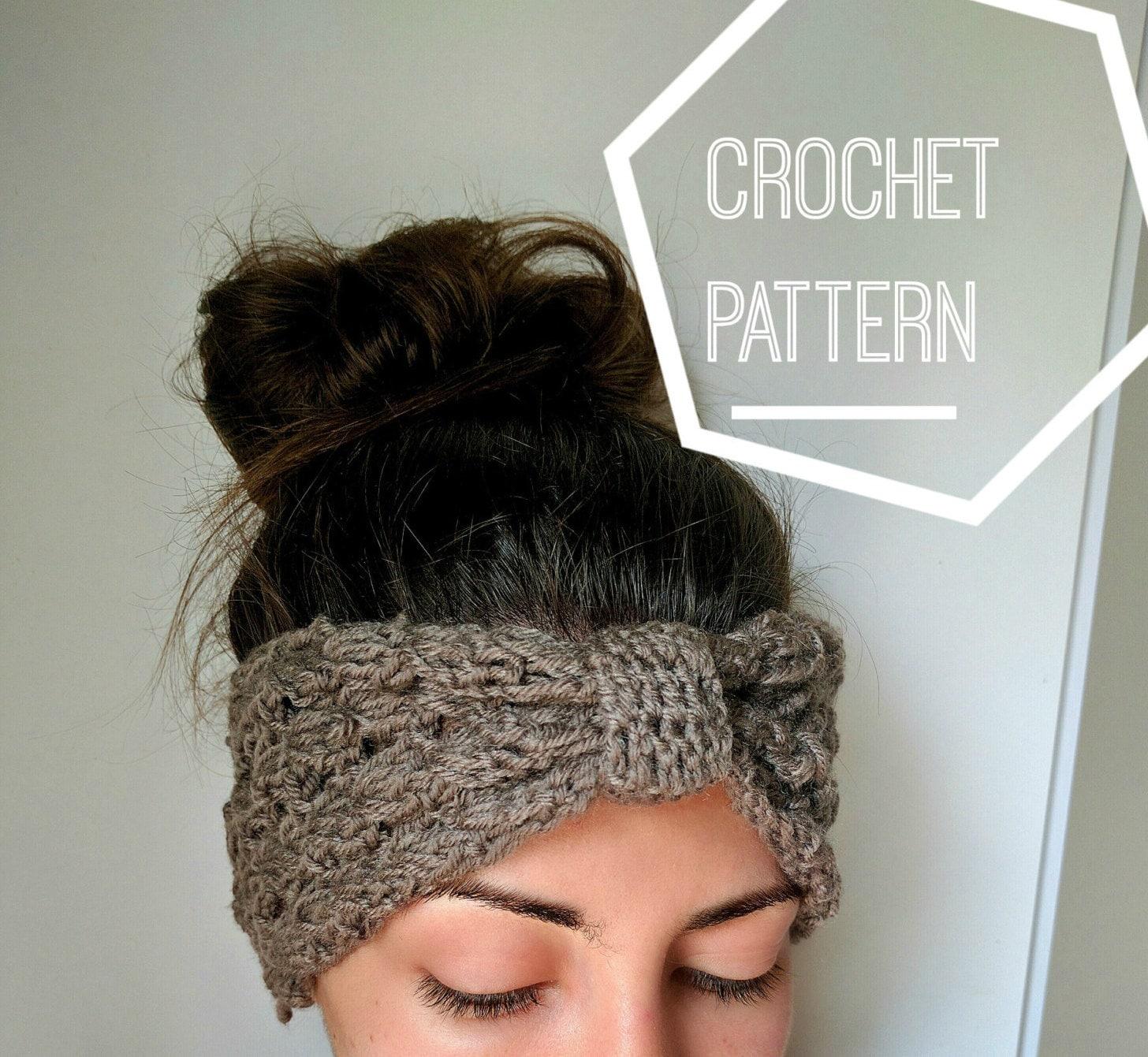 Crochet Ear Warmer Pattern Crochet Knot Headband Pattern Etsy