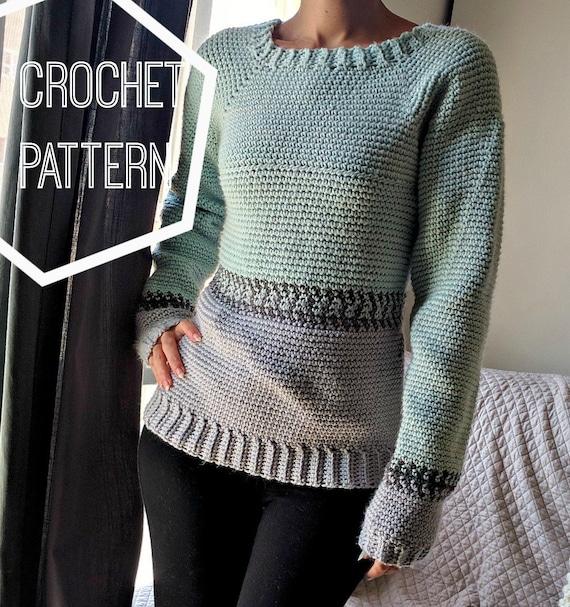 Crochet Fair Isle Pullover Pattern Crochet Sweater Pattern Etsy Amazing Fair Isle Sweater Pattern