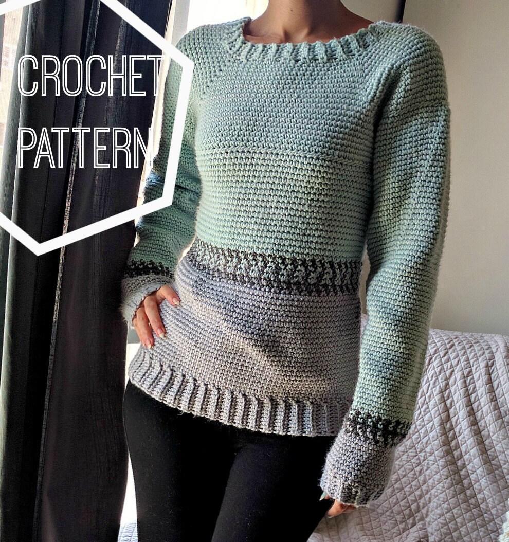 Crochet Fair Isle Pullover Pattern Crochet Sweater Pattern Etsy