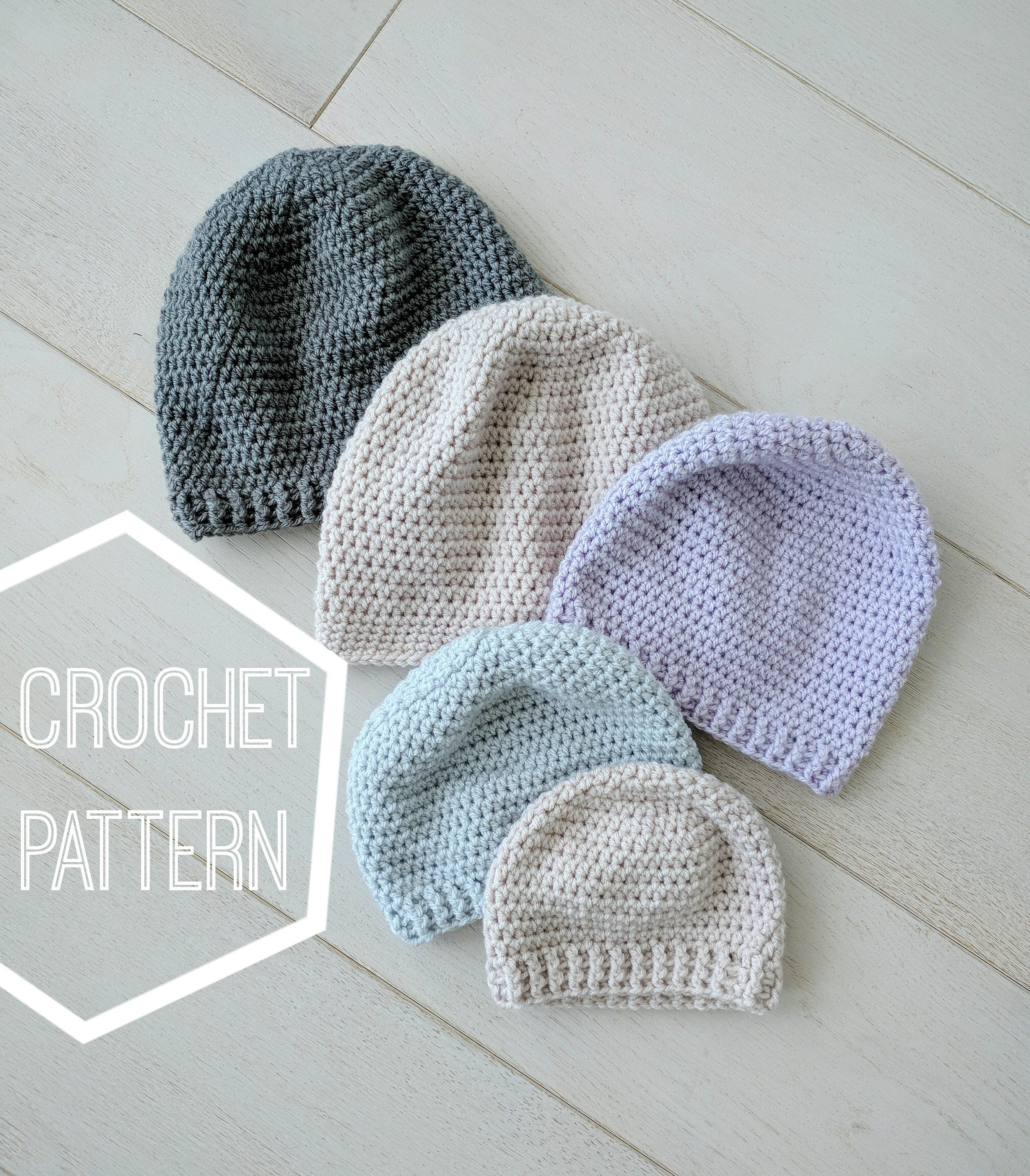 Perfect Simple Crochet Beanie Pattern, Simple Beanie Crochet Pattern ...