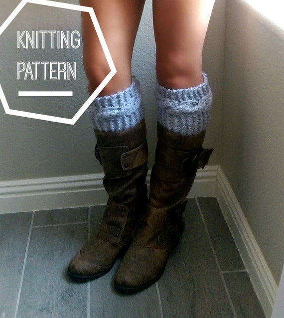 Chunky Cable Knit Boot Cuff Pattern Boot Cuff Knitting Etsy