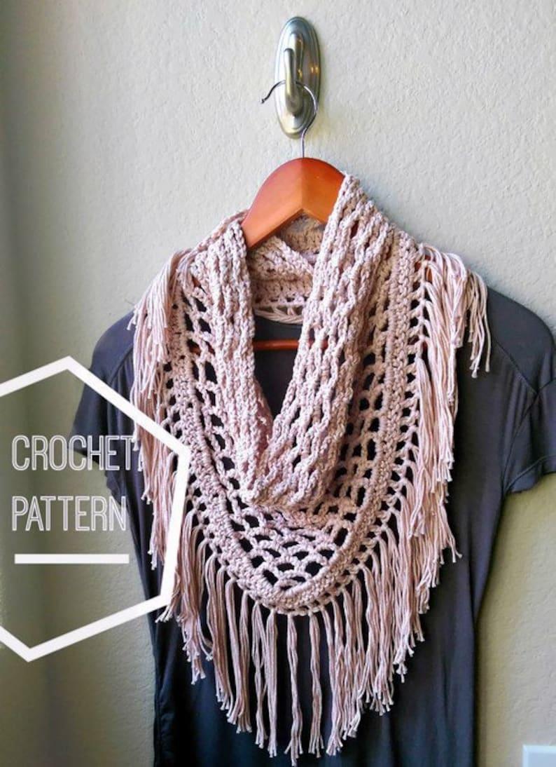 Crochet Scarf Pattern ONLY Crochet Triangle Scarf Pattern image 0