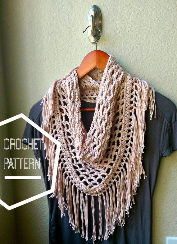 Crochet Scarf Pattern Only Crochet Triangle Scarf Pattern Etsy