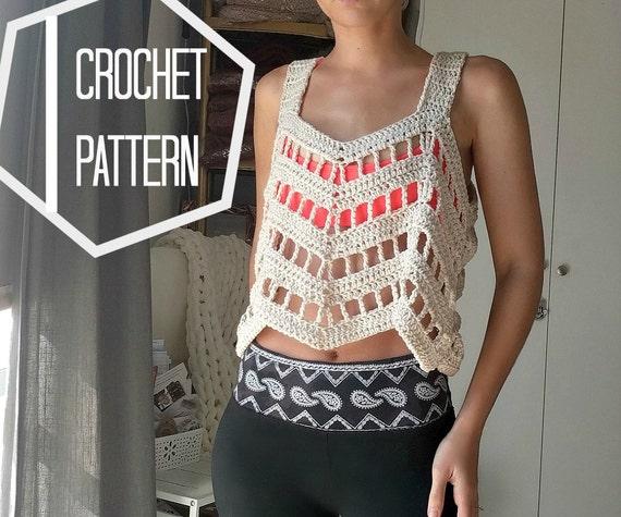 Lace Crochet Top Pattern Crochet Coverup Pattern Boho Etsy