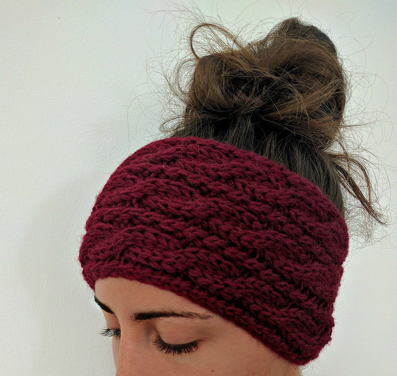 Chunky Cable Knit Ear Warmer Pattern, Knitting Patterns for Women ...