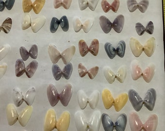 60 Beautiful Coquina (butterfly) Shells assorted size Brown,Yellow Bulk Shells Jewelry Craft Supply -   From Sanibel Island Florida