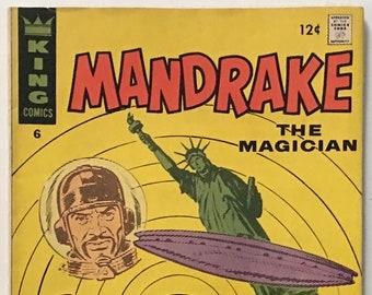 Mandrake The Magician #6 Silver Age 1967 King Comics VF 8.0
