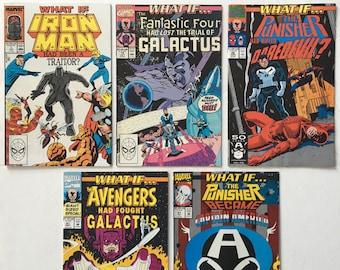 What If? #s 1 15 26 41 51 Lot of 5 Marvel Comics 1988-1993 - Hot New Disney+ TV Show