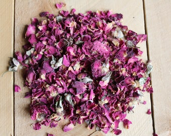 Dried Rose Petals 1 oz Rose Buds Loose Herbs Aromatherapy Raw Organic Rose Petals Potpourri Sachets Natural Air Freshener
