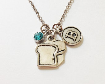 Bread necklace - personalized necklace - birthstone - friendship necklace - birthday gift - christmas
