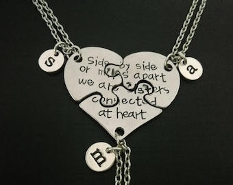 3 best friend necklace etsy