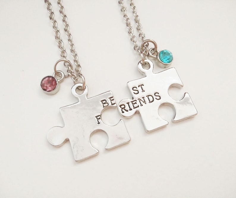 BEST FRIENDS JIGSAW BFF FRIENDS NECKLACE IN GIFT BAG FRIENDSHIP