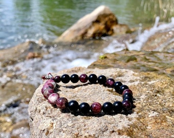 NEW! Couples Love & Connection Malas | Obsidian | Garnet | Tourmaline | Luxury Mala Bracelets | Heart Healing | Soul Reaching Love | Passion