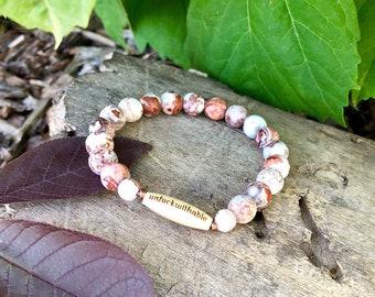 Unfuckwithable Mala Bracelet | AAA Grade Brazilian Crazy Lace Agate | Boho Mala Beads | Yoga Bracelet | Reiki Healing | Happiness | Pure Joy